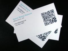 Visitkort med QR-kode
