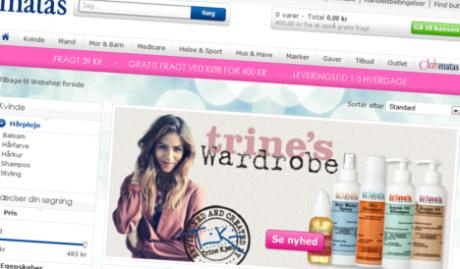 Trine's Wardrobe hårplejeserie i Matas
