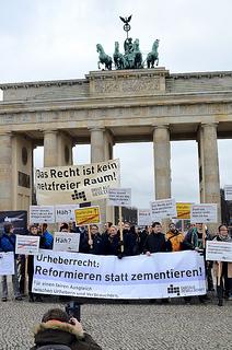 Demonstration mod Leistungsschutzrecht