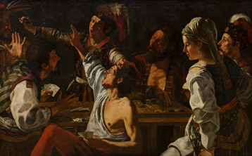 Card and Backgammon Players. Fight over Cards, Theodoor Rombouts