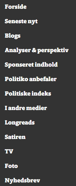 Politiko menu